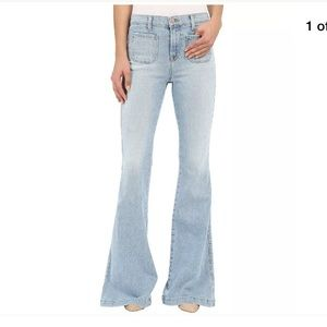 J Brand High Rise Beach Line Wide leg jeans